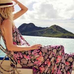Free People, Strappy Floral Maxi